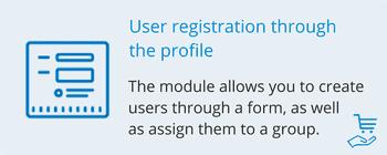 Регистрация пользователя через анкету, фото