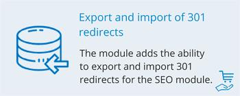 Экспорт и импорт 301 редиректов, фото